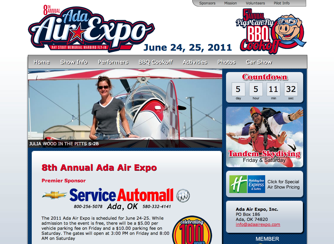 Ada Air Expo Website