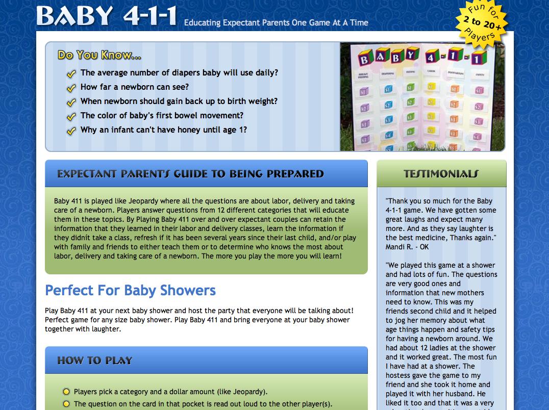 Baby 411 Web Design