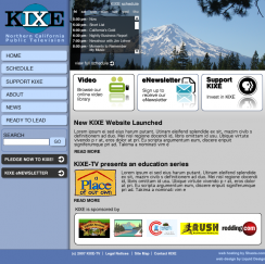KIXE website design