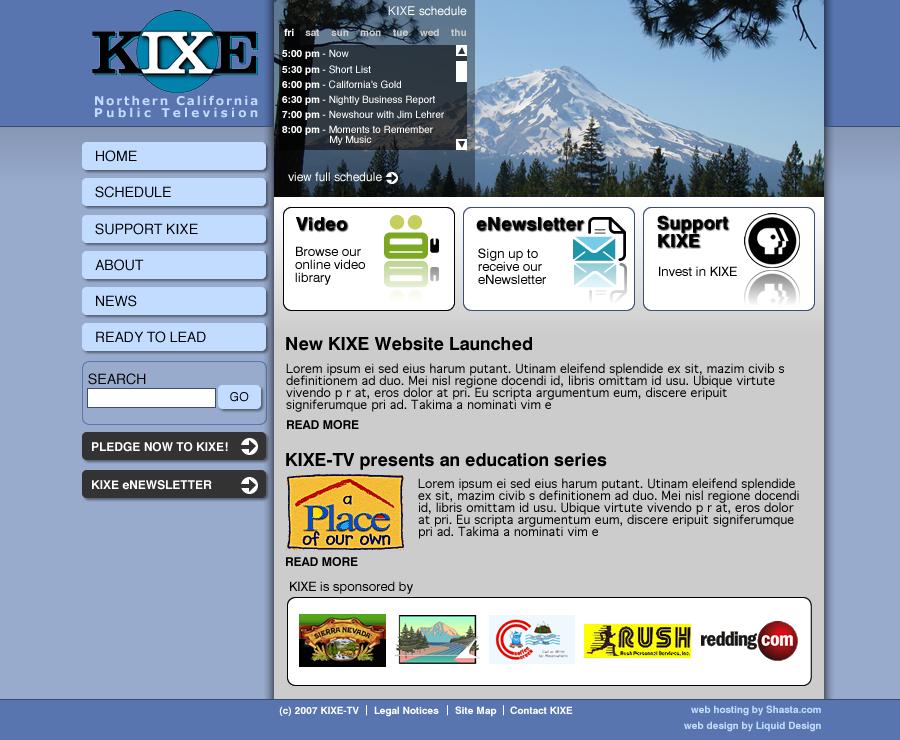 KIXE website design