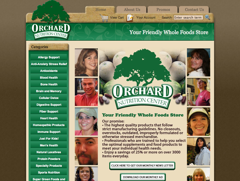 Orchard Nutrition web development