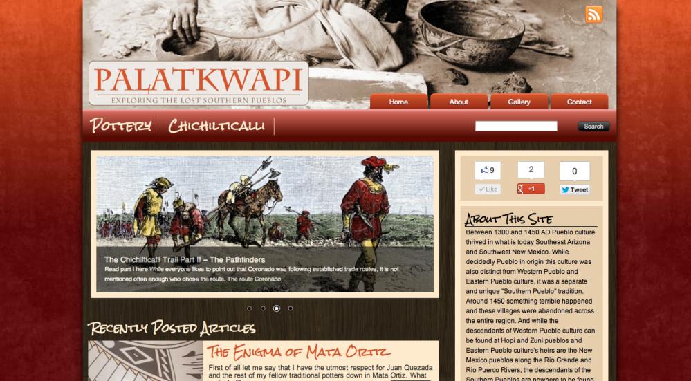 Palatkwapi blog design