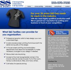 S&S Textiles Web Design