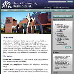 Shasta Health Website