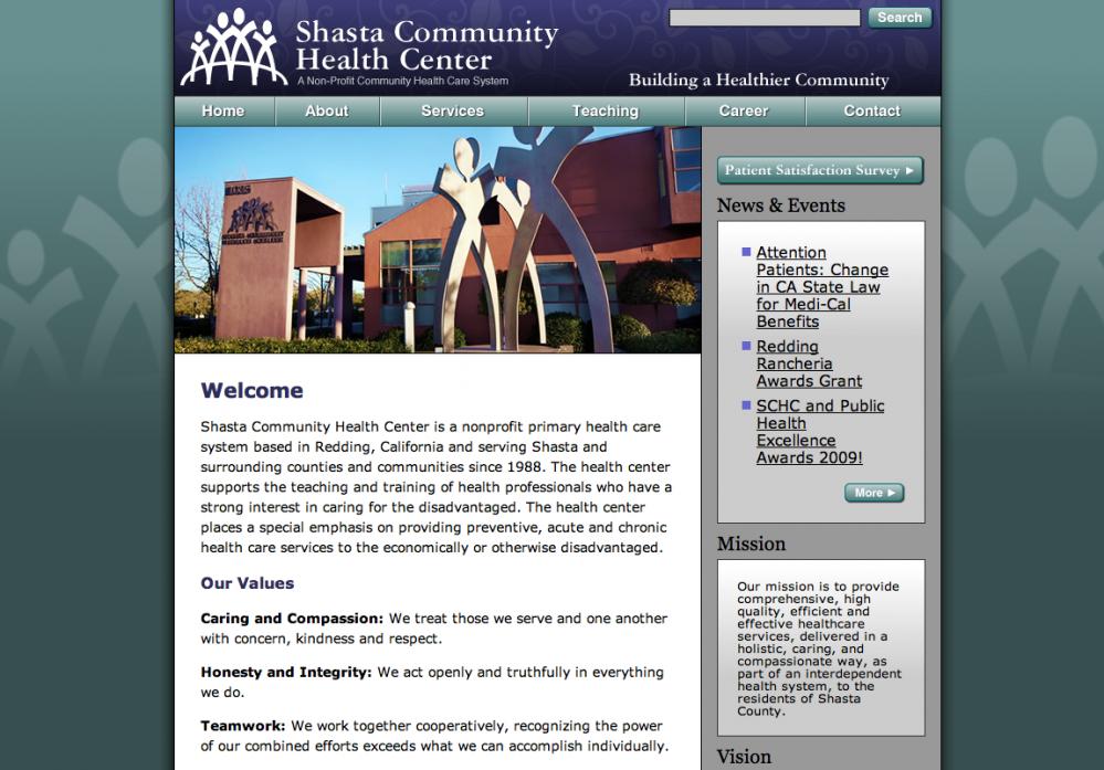 Shasta Health Website