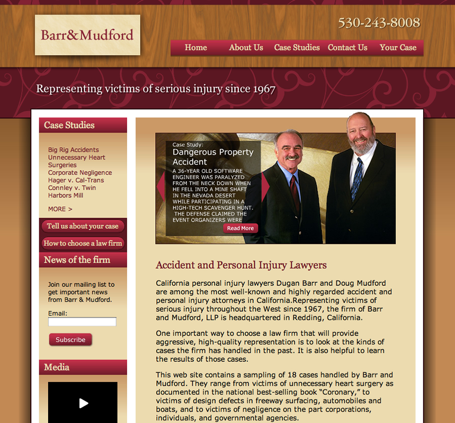 Barr & Mudford Website Design