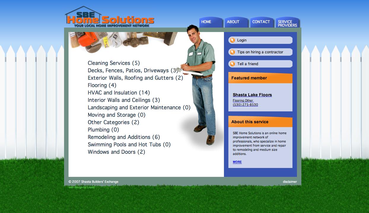SBE Home Solutions Web Development