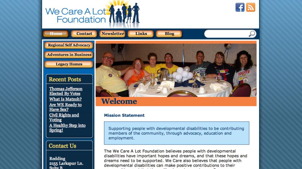 We Care A Lot Web Design