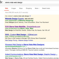 Sierra Vista web design SERPS