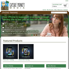 Capsule Monkey Web Design Project