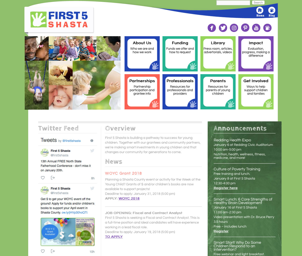 web design for first 5 shasta